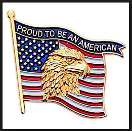 American flag eagle lapel pin