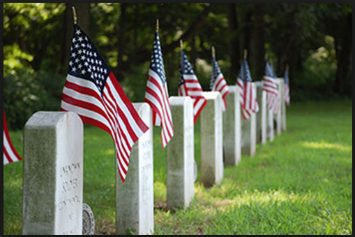 U.S flags for cemetries