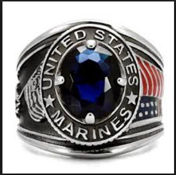 Veterans day rings stainless steel