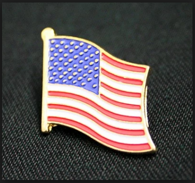 Veterans day flags lapel pins