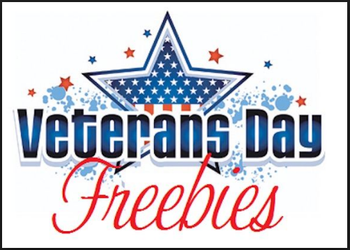 Veterans day Freebies and meals