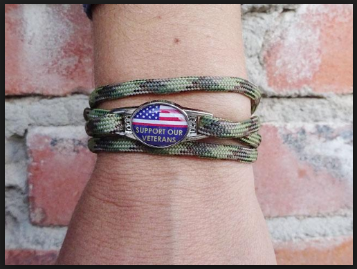Happy veterans day bracelets