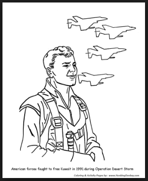 Veterans day air force coloring pages