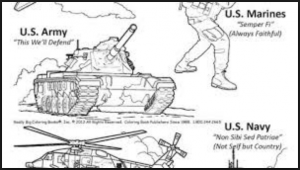 Marines Veterans day coloring sheets