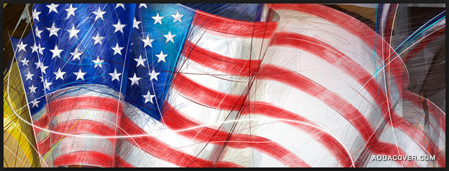 Veterans day flags facebook covers images