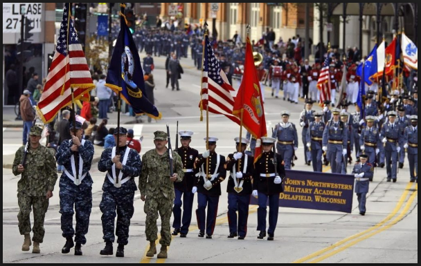 Veterans day parade Images Washington Dc