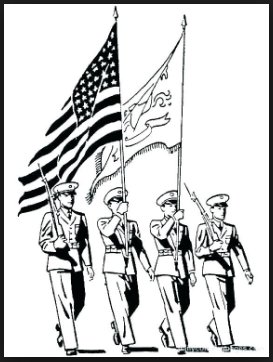 Veteran day coloring pages Army