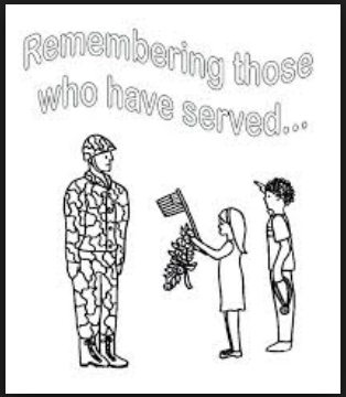 Happy veterans day coloring pages and sheets free