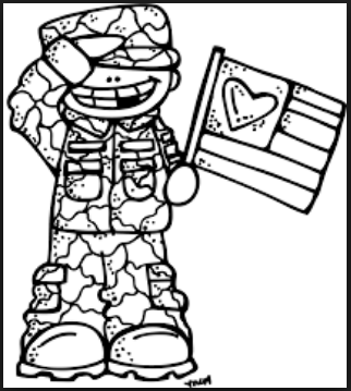 thank you black and white veterans day clipart