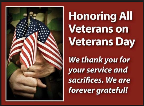 happy veterans day thank you messages