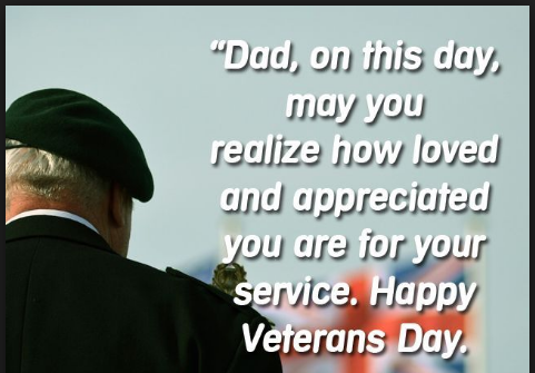 veterans day thank you message father
