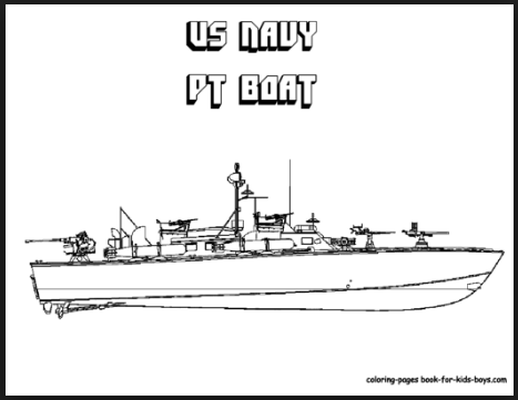 U.S navy coloring pages