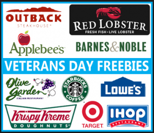 veterans day applebees free meals