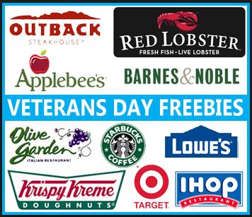 veterans day applebees free meals