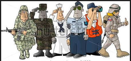 Armed Forces veterans day clipart