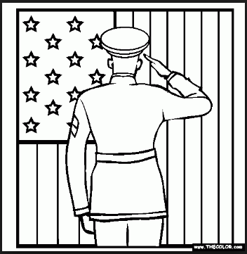 Veterans day coloring pages air force