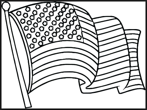 Veterans day coloring pages of U.S flag