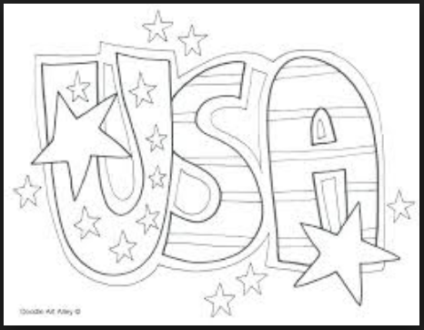 Veterans day coloring sheets USA logo