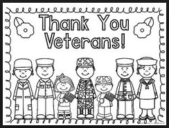 Free printable veterans day coloring worksheets
