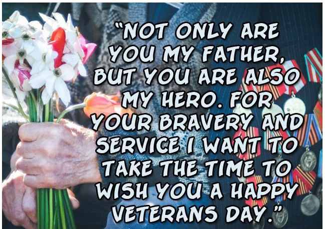 veterans day thank you messages for father