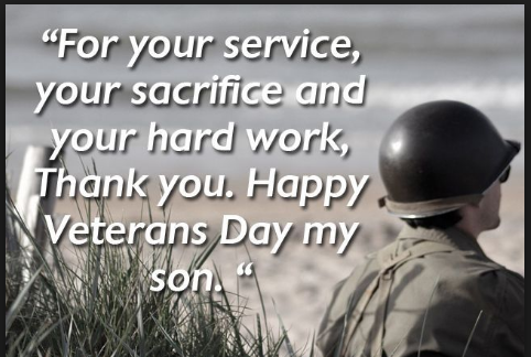 veterans day thank you son images