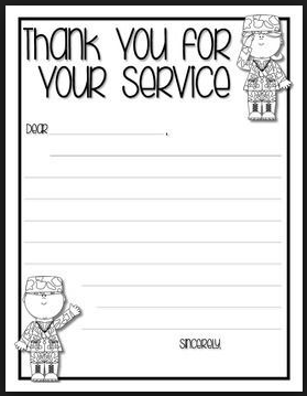 veterans day thank you thank you cards templates