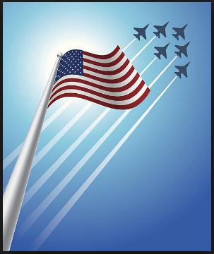 veterans day aircraft clipart