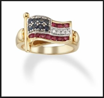 American Flag rings for veterans