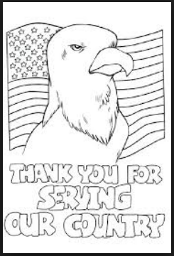 thank you for service veterans day coloring pictures