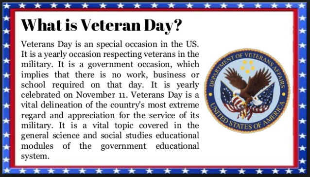 veterans day definition images