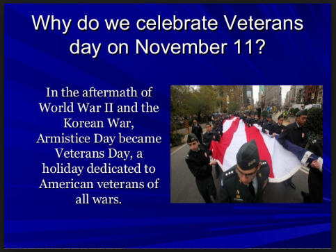 why do we celebrate veterans day on Nov. 11