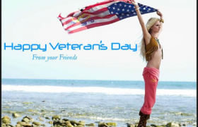 Happy veterans day celebration