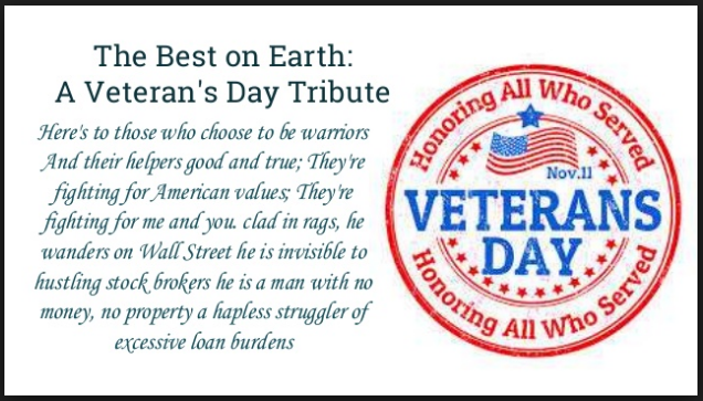 veterans day greetings to tribute