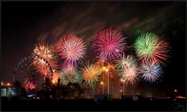 new year firework graphics