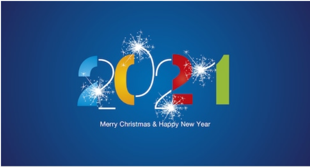 happy newyear 2021 and christmas image