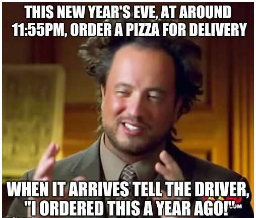 sarcastic new year meme