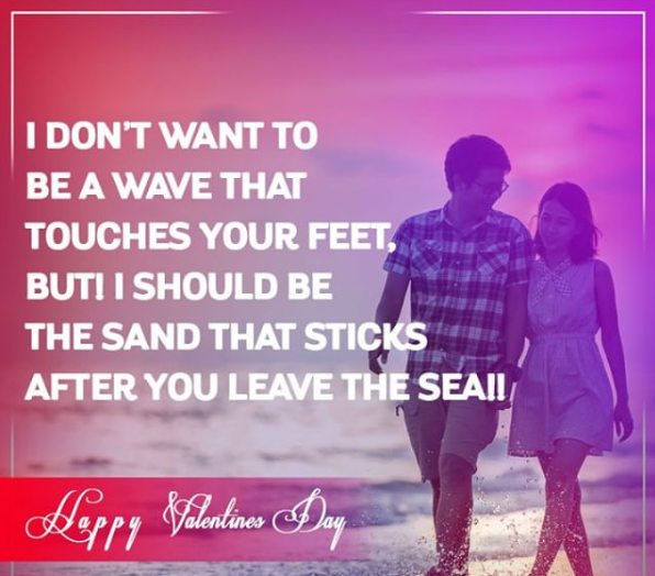 happy Valentines day beach images with her