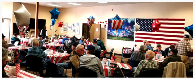 veterans day celebration in nursing home