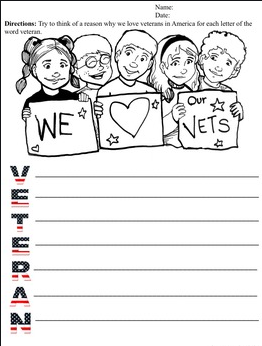 Kindergarten worksheet for armistice day